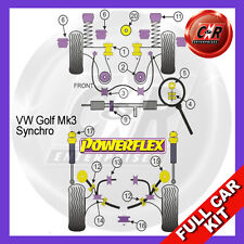 VW Golf Mk3 4WD Syncro (1993 - 1997) Powerflex Complete Bush Kit