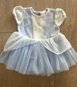 Baby Gap Disney Toddler Girl Cinderella Tutu Tulle Dress Halloween Costume 6-12M