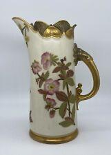 Antique Royal Worcester Porcelain Gold Gilt Tankard Pitcher