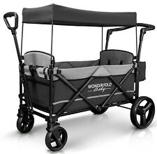 Wonderfold Wagon X2 Push Pull 2 Passenger Folding Stroller Gray NEW