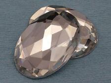 Flat Back Jewels Oval Acrylic Rhinestones for Jewelry Making 40x30mm - 4PCS