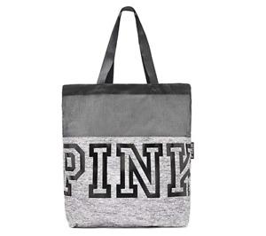 Victoria's Secret PINK Mesh Grey Marl Logo Tote