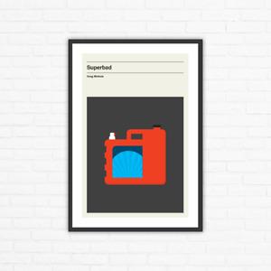 Superbad Minimalist Mid Century Movie Poster, Greg Mottola