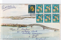 new zealand auckland harbour bridge air mail  stamps cover ref r14613