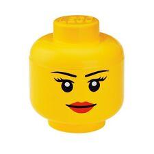 LEGO Storage Head Small Girl Yellow Container Bin Box