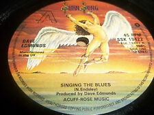 "DAVE EDMUNDS "" SINGING THE BLUES "" 7"" SINGLE VG 1980"