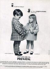PUBLICITE ADVERTISING 015  1965  PRENATAL   manteaux enfants