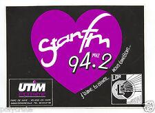 Autocollant Sticker Pub - Stan FM 94.2 Nancy Radio an. 80