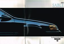 1988 Mercury SABLE Brochure / Catalog with Color Chart : GS,LS,Station Wagon