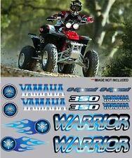 Warrior yamaha BLUE Full Color Stickers Graphics 14pc kit ATV QUAD, 6 speed, 350