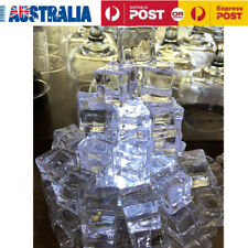 50X Fake Acrylic Ice Cubes Artificial Wedding Party Photography Display Clear AU