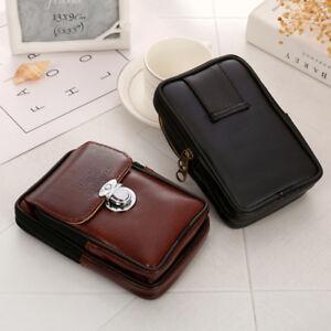 Mens Leather Hip Fanny Pack Waist Belt Bag Phone Case Pocket Purse Pouch .n