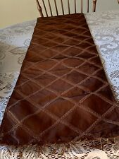 Brown Satin Beaded Edge 6 Ft Table Runner