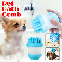 Pet Hair  Shampoo Storage Comb Dog Cat Grooming Massage Bath Shedding