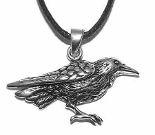 Raven Pendant Necklace (Sterling Silver)