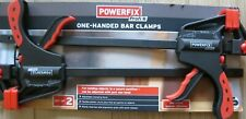 Powerfix Profi One-Handed Bar Clamps, BRAND NEW SET OF 2