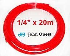 """1/4"""" Filtro Frigo Tubazione LLDPE Tubo acqua John Guest Jg 20m Rosso"""