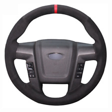 Top Leather Steering Wheel Hand-stitch on Wrap Cover For Ford F150