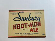 Sunbury Beer Label sunbury brewing co sunbury pa
