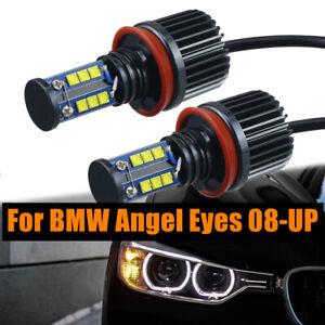 80W/120W 2PCS H8 LED Angel Eye Halo Ring Headlight Bulbs For BMW E92 E93 E63 E70