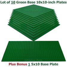 1 Genuine LEGO Minifigure +10 Green compatible with LEGO 10x10 BasePlates +BONUS