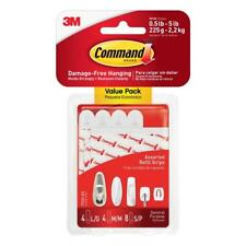 Command 16-Pack White Adhesive Hook Damage-Free Hanging Hold Strongly Easy Use