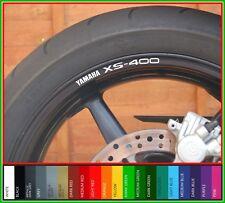 8 x YAMAHA XS-400 Wheel Rim Stickers Decals - 20 Colours - xs 400 xs400 se