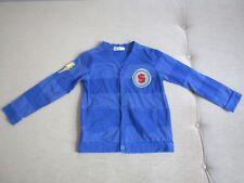 Jacke Shirtjacke Strickjacke Gr. 110/116 in blau Superman von H&M