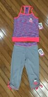 NWT Hello Kitty 2 Pc Outfit Top Blouse Capri Pants Side Cinch Sz 7 / 8   (HK-2)