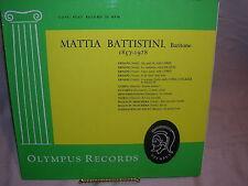 Mattia Battistini Bariton 1857-1928 ORL 221 Olympus Records
