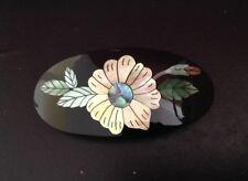 Handmade Genuine Abalone Shell Hair Barrette Flower Bloom