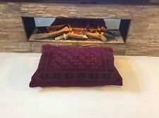 Afghan real WOOL ANTIQUE XL RED Floor Cushion from Handknotted Handmade RUG -40%