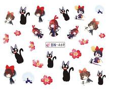 NAIL Art Decalcomanie Transfers Adesivi cartoni animati Principesse Gatti FIORI (db469)