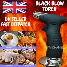 More details for butane blow torch soldering iron refillable blow torch gas lighter black uk