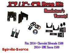 2014+ Chevy Silverado GMC Sierra 1/3 - 2/4 FULLY Adjustable Lowering Kit Hanger