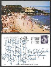 1957 California Postcard - La Jolla - The Cove