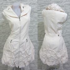 NEU Lange Weste Kleid Tunika Longshirt  Beige Gr 42 (R0260N) GLAMZ FRANSTYLE