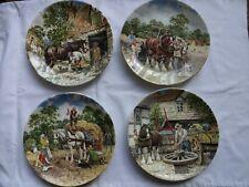 "Wedgwood Collector Plates ""Life On The Farm"" X 4 Diameter 20 cm"