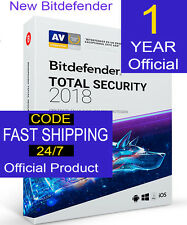 Bitdefender Total Security 2018 5 PCs  1 Year  Code Multidevice not physical