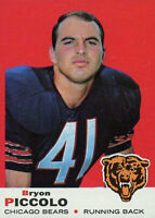 REFRIGERATOR MAGNET 1969 Topps #26 Brian Piccolo Rookie Card Chicago Bears