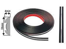 18mm x 5m (004) Black/Chrome Door Bumper Protector Moulding Strip suits FORD