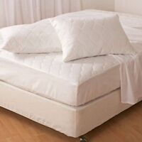 """Easycomfort Extra Deep Quilted Mattress Protector Poly Cotton ~ 12"""" Fitted Skirt"""