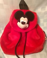 Disney Mickeys For Kids Plush Mickey Mouse Adjustable Fleece Backpack
