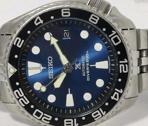 VINTAGE BLUE PROSPEX MODDED SEIKO DIVER 7002-7000 AUTOMATIC MEN'S WATCH 3D0383
