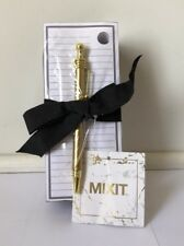 JCPenny Monogrammed L Notepad With Pen Gold Black