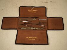New listing Vintage Theo Alteneder & Sons Pocket Case Drafting Tools w/ Leather Pouch