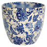 Ivyline Monza Vintage Blue Indoor Planter Plant Pot Flower Pot