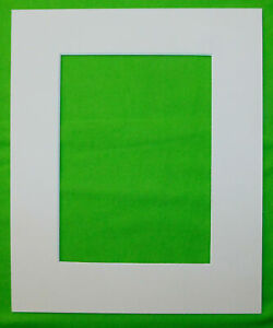 White 5x7 Mat Matting Mattes for Picture Framing of Photos Art Watercolor Crafts