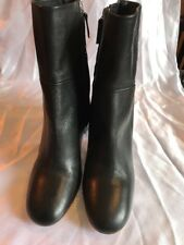 Cos Black Leather Ankle Boots Size 41