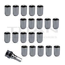 20 Piece Chrome Tuner Lugs Nuts | 12x1.25 Hex Lugs | Key Included